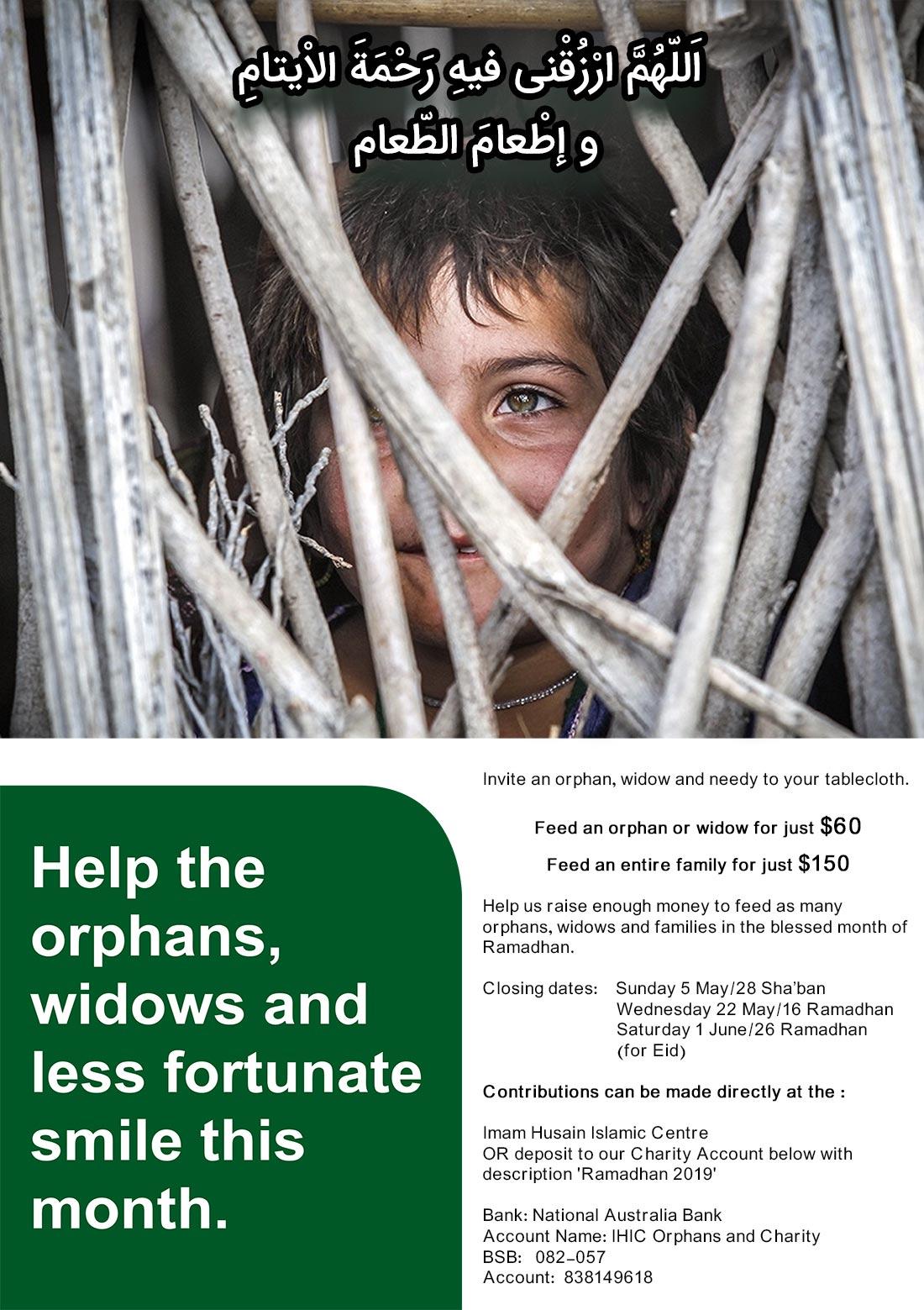 Help The Orphans, Widows & Less Fortunate – Imam Husain Islamic Centre